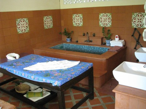 Massage and treatment room
